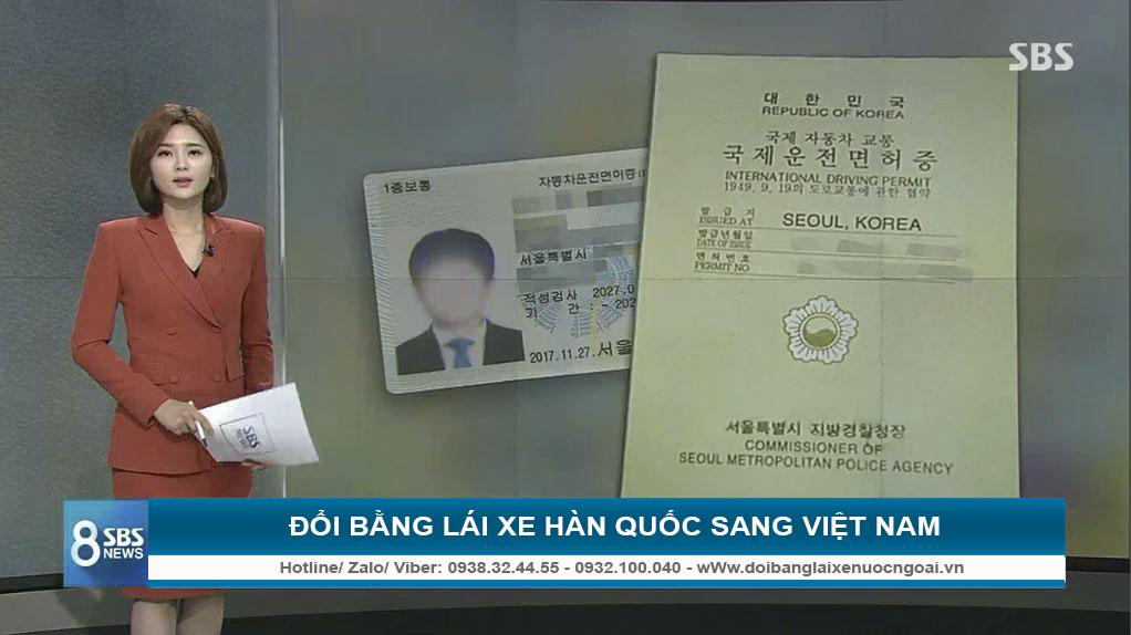 Bằng lái xe Hàn Quốc về Việt Nam có đổi được không