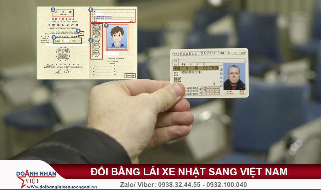 Bằng lái xe ở Nhật có dùng được ở Việt Nam không