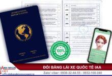 Bằng lái xe quốc tế IAA có được lái xe ở Việt Nam