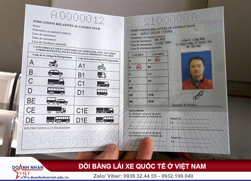 Bằng lái xe quốc tế ở Việt Nam