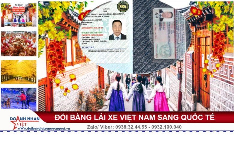 Bằng lái xe Việt Nam có dùng được ở Hàn Quốc