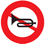 Biển báo cấm bóp còi