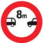 Biển báo cấm cự ly tối thiểu giữa hai xe