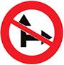 Biển báo cấm đi thẳng và rẽ phải