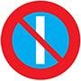 Biển báo cấm đỗ xe vào những ngày lẽ