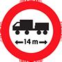 Biển báo cấm hạn chế chiều dài ô tô kéo moóc
