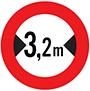 Biển báo cấm hạn chế chiều ngang