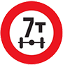 Biển báo hạn chế trong lượng trên trục xe