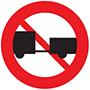 Biển báo cấm ô tô kéo moóc