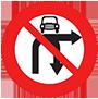Biển báo cấm ô tô rẽ phải và quay xe