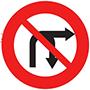 Biển báo cấm rẽ phải và quay đầu xe