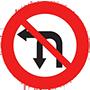 Biển báo cấm rẽ trái và quay đầu xe
