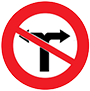Biển báo cấm rẽ trái và rẽ phải