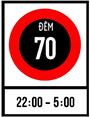 Biển báo cấm tốc độ tối đa cho phép về ban đêm