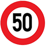 Biển báo cấm tốc độ tối đa cho phép