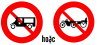 Biến báo cấm xe ba bánh loại có động cơ