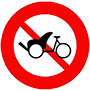 Biển báo cấm xe ba bánh loại không có động cơ