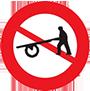 Biển báo cấm xe người kéo, đẩy