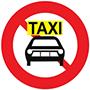 Biển báo cấm xe ô tô taxi