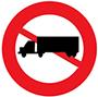 Biển báo cấm xe sơ mi rơ moóc