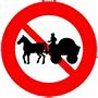 Biển báo cấm xe súc vật kéo