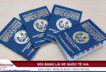 Cách đổi bằng lái xe quốc tế IAA