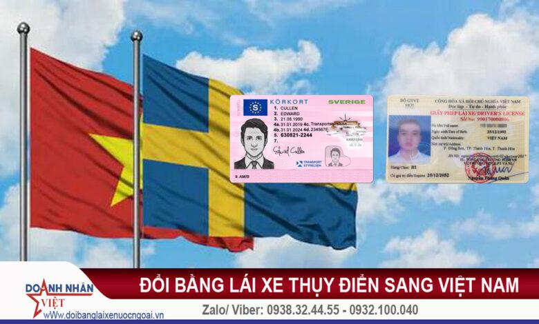 Đổi bằng lái xe Thụy Điển sang Việt Nam