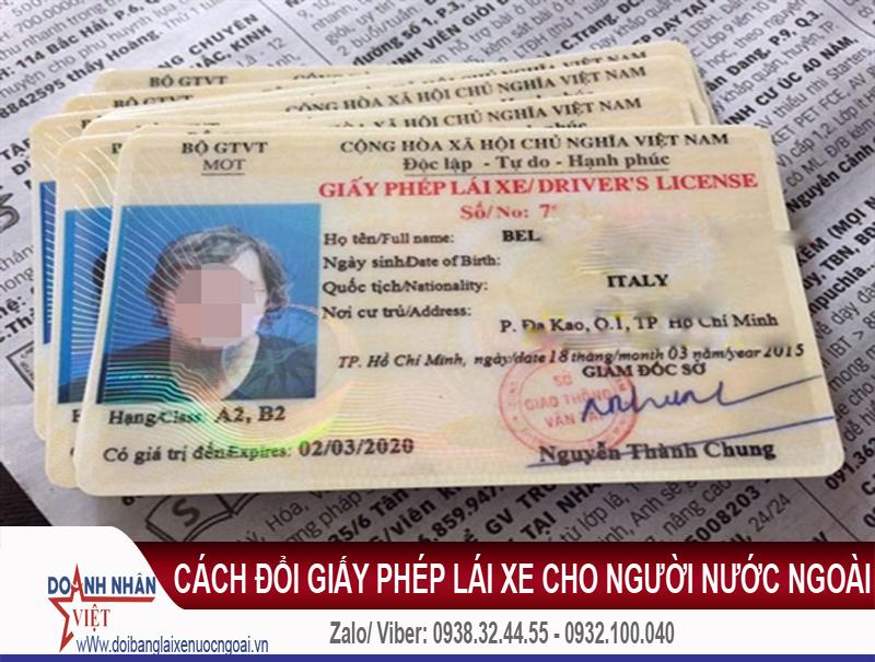 cách đổi giấy phép lái xe cho người nước ngoài