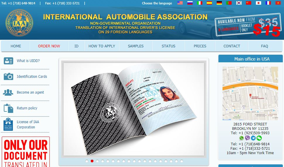 Kiểm tra bằng lái xe quốc tế thật giả