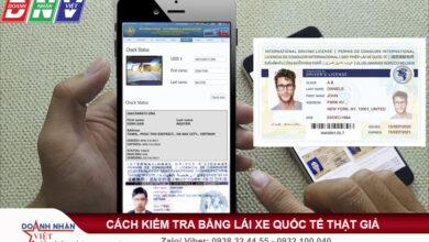 Cách kiểm tra bằng lái xe quốc tế IAA thật giả