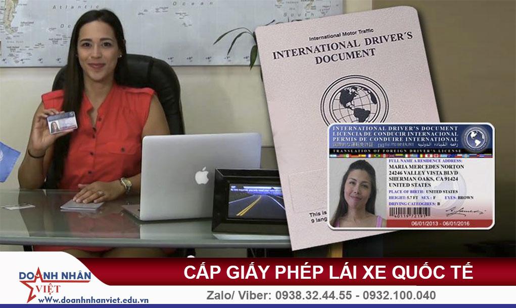 Cấp giấy phép lái xe quốc tế