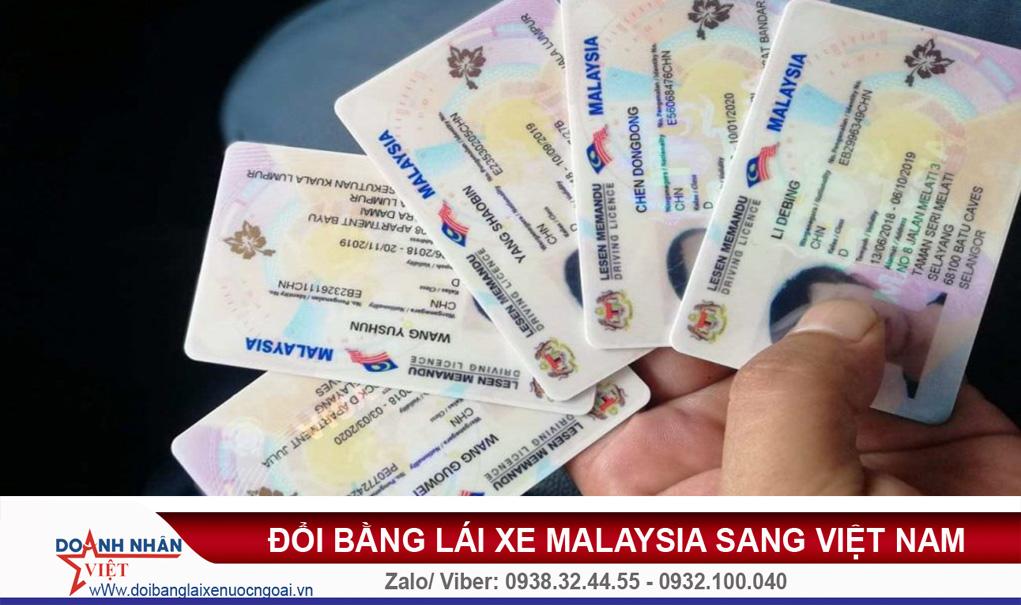Đổi bằng lái xe Malaysia sang Việt Nam