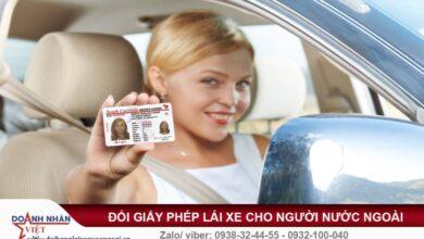 Chuyển đổi giấy phép lái xe cho người nước ngoài