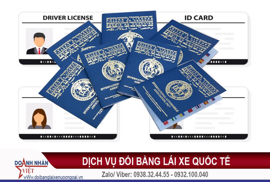 dịch vụ đổi bằng lái xe quốc tế