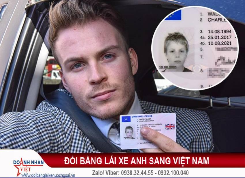 Đổi bằng lái xe Anh sang Việt Nam