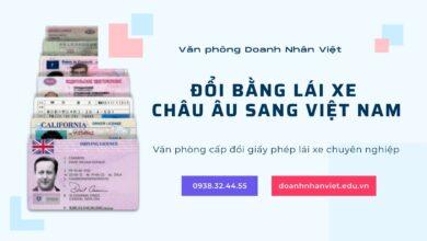 Đổi bằng lái xe Châu Âu sang Việt Nam