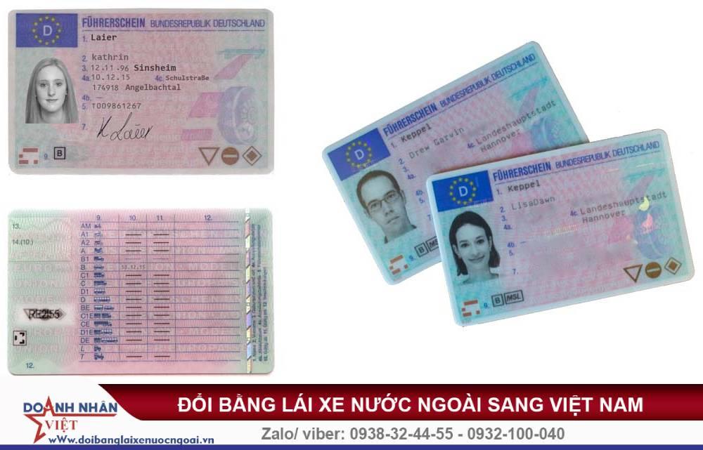 Đổi bằng lái xe Đức sang Việt Nam