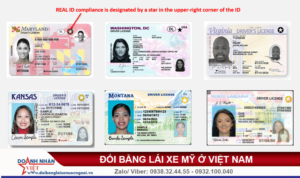 Đổi bằng lái xe Mỹ ở Việt Nam