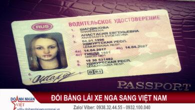 Đổi bằng lái xe Nga sang Việt Nam