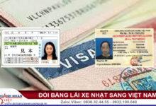 Đổi bằng lái xe Nhật sang Việt Nam