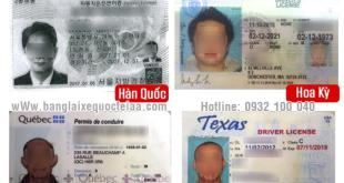 Đổi bằng lái xe nước ngoài sang bằng Việt nam