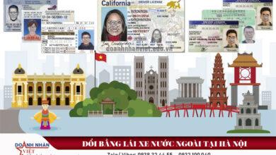 Đổi bằng lái xe nước ngoài tại Hà Nội