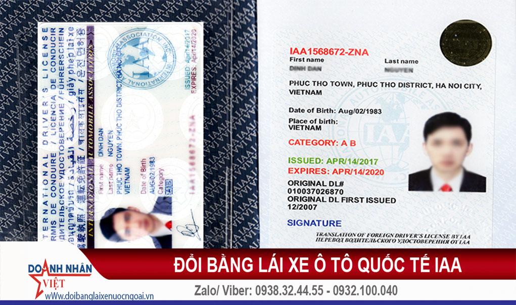 Đổi bằng lái xe ô tô quốc tế IAA