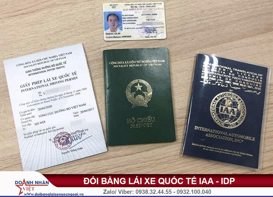 Đổi bằng lái xe quốc tế cần những gì