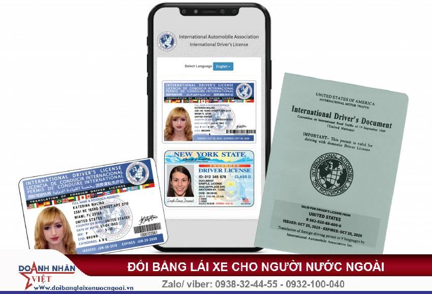 Đổi bằng lái xe quốc tế cho người nước ngoài