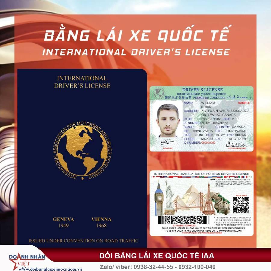 Đổi bằng lái xe quốc tế hết hạn