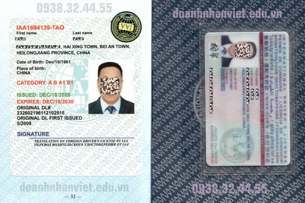 Đổi bằng lái xe quốc tế IAA