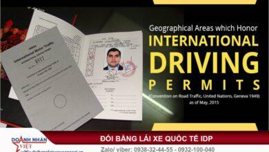 Đổi bằng lái xe quốc tế IDP