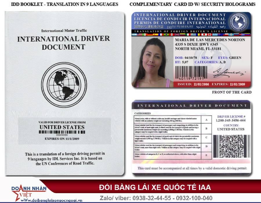 Đổi bằng lái xe quốc tế ở đâu