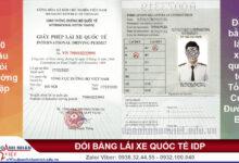 Đổi bằng lái xe quốc tế Tổng Cục Đường Bộ